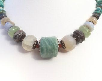 Chunky gemstone necklace