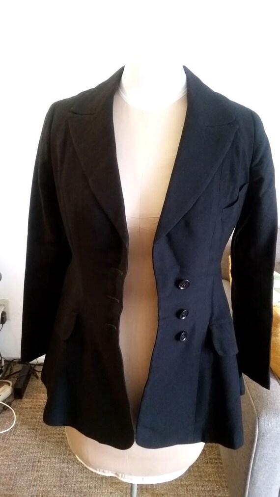 1920's Jazz Age Black Outdoor Suit