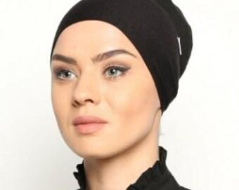 Premium Qualità Sotto Sciarpa Hijab Sciarpa Tubo Berretto OSSO COFANO Chemio HAIR WRAP