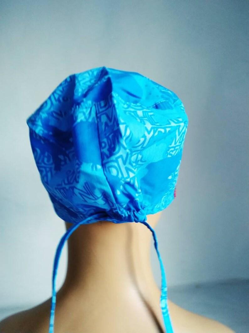 cotton cap unisex Blue Nurse cap adjustable doctor cap Head Covers woman surgical cap Medical cap surgical cap women