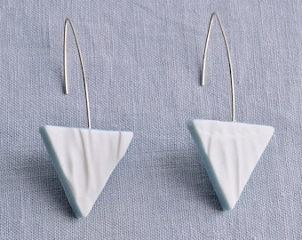 RUCHED No15 geometric triangle earrings