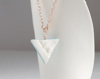 RUCHED No21 geometric triangle pendulum bracelet