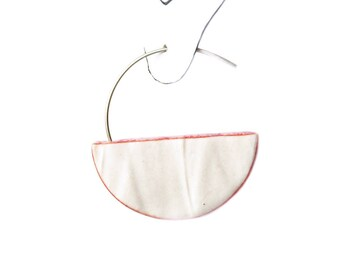RUCHED No12 geometric semi circle earrings