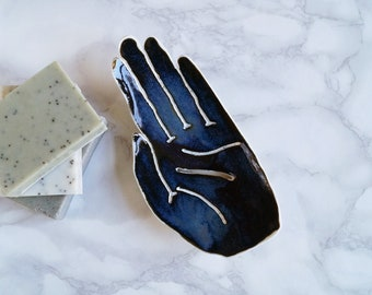 HAND soap dish, midnight