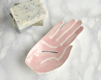 HAND ceramic soap dishes