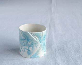 Hand made porcelain tea light holder, LEAF