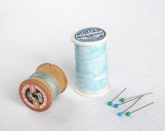 Ceramic porcelain COTTON REEL box, choose pastel colour