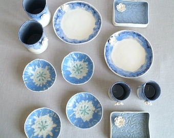 Wholesale bundle WATER LILY and POPPY ceramics