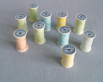 Wholesale bundle ten rainbow porcelain COTTON REEL boxes
