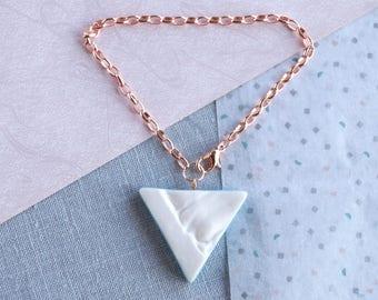 RUCHED No21 geometric triangle bracelet
