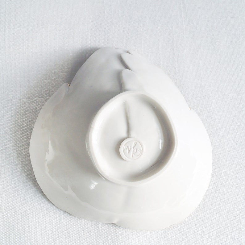 two porcelain hands soft white gold OFFERING hands luxury ceramic bowl life size