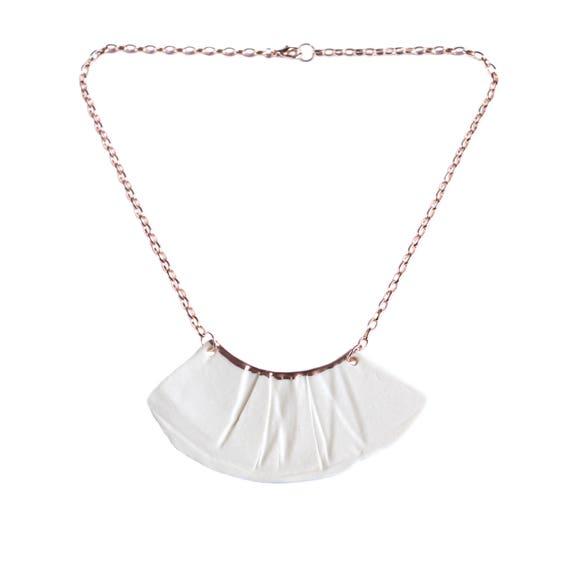RUCHED No1 bib necklace