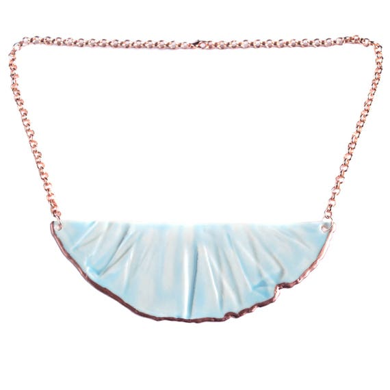RUCHED No4 bib necklace