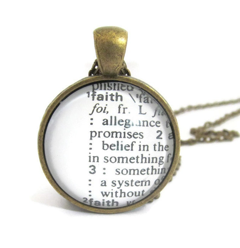 Definition of FAITH Necklace or Keychain Personalized Word image 0