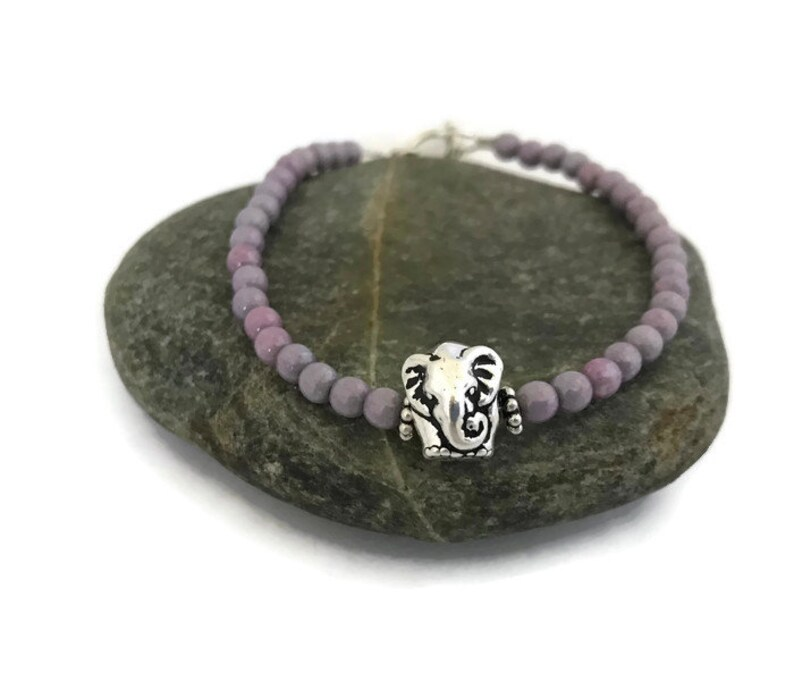 Beaded Elephant Bracelet Boho Style Handmade Jewelry for image 0