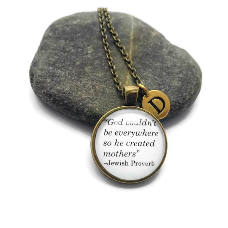 Motherhood Quote Necklace or Keychain Personalized Mothers image 0