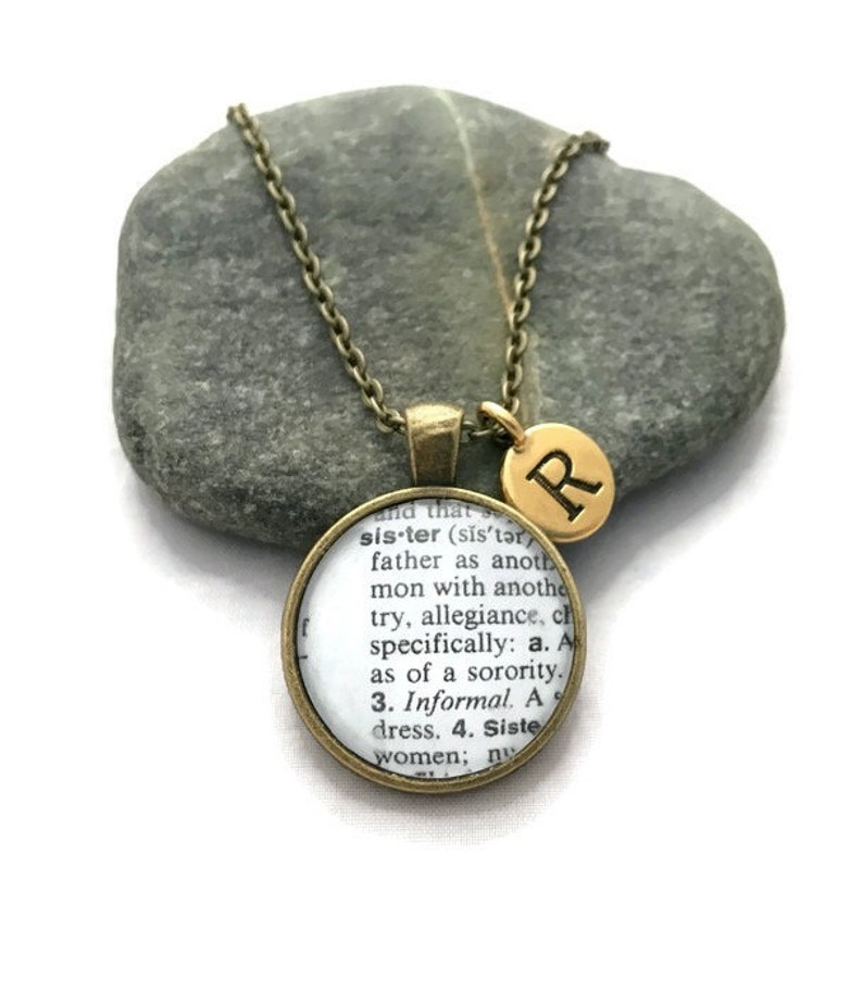 Personalized Sister Necklace Definition of Sister Dictionary image 0