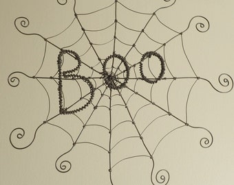 """Boo Charlotte's Web Inspired Barbed Wire Spider Web 12"""", Free Shipping in US"""