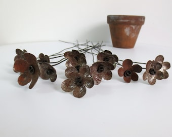 Rustic Bouquet of Rusty Flowers Bloom Forever For For You To Enjoy, Free Shipping In US