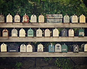 Vintage Mailboxes - New England Photography - Lakes Region NH - 8x12 fine art photo