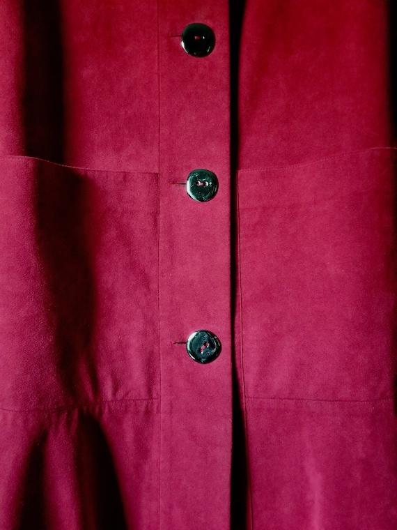 """Vintage """"A Trigère Coat"""" - '80's-'90's Raspberry … - image 7"""
