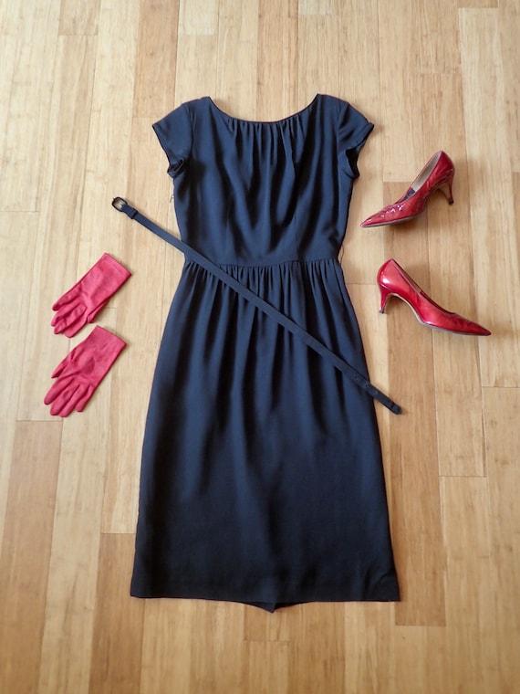 1950's MINX MODES Black Cocktail Dress W/Original