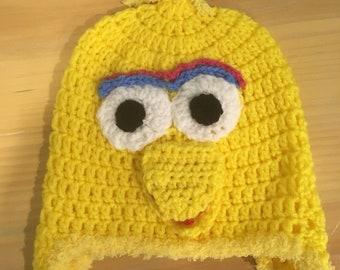 8ff9b311 Handmade crocheted Big bird ear flap hat