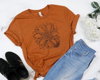 Sunflower 1 Peter 1:24-25 - Soft T-shirt