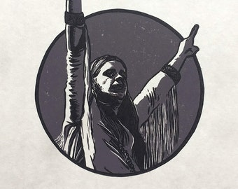 O is for Ozzy Osbourne linocut print