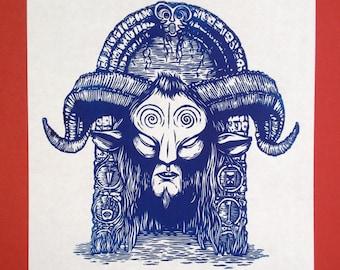 Pan's Labyrinth linocut print