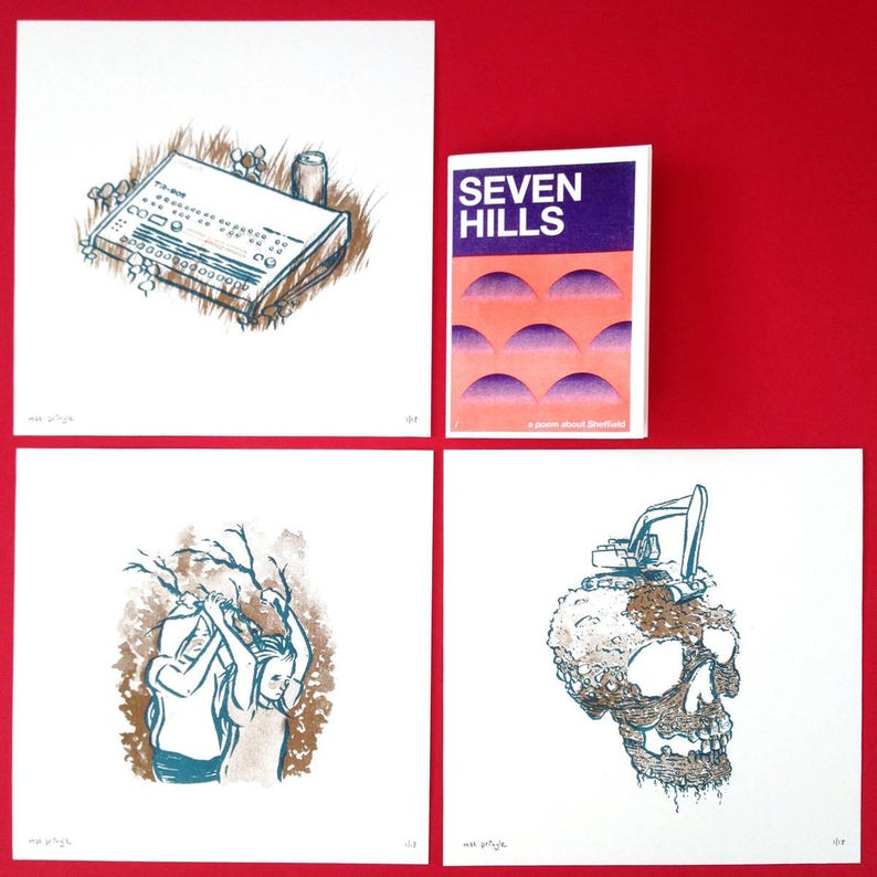 Seven Hills limited edition screen print set of three image 0