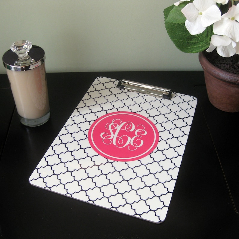 Personalized Clipboard  Reverse Clover  Design Your Own image 0