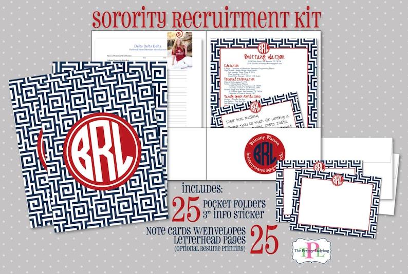 Sorority Recruitment Recommendation Kit  Set of 25  The image 0