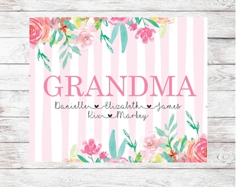 Personalized Mother's Day Blanket   Custom Blanket for Mom   Floral Blanket for Mother's Day