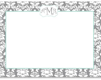 Personalized Flat Correspondence Note Cards - Sorority Recruitment Note Cards