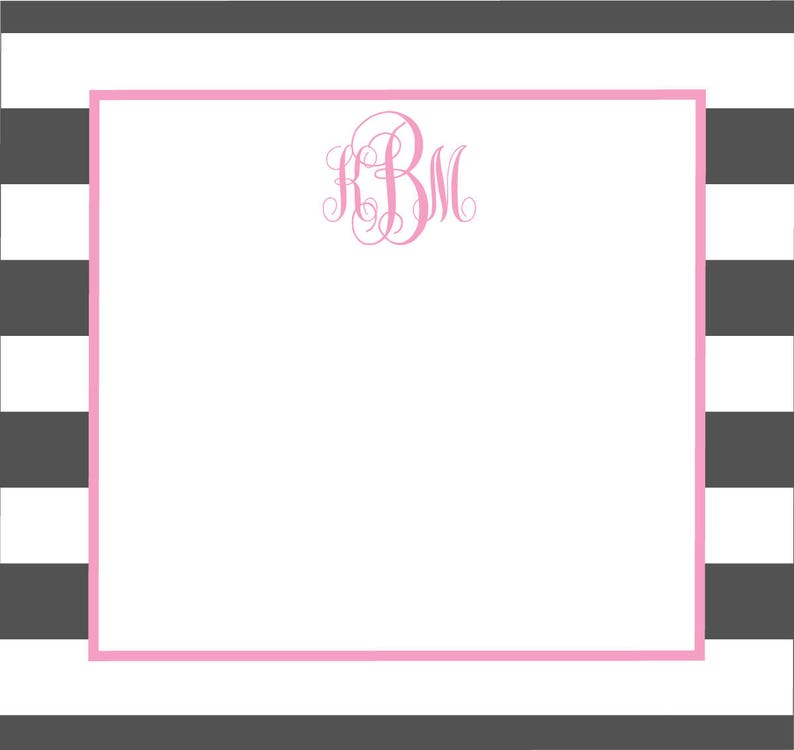 Monogrammed Mailing Labels  Sorority Stickers image 0