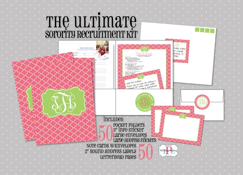 Ultimate Sorority Recruitment Recommendation Kit  Package of image 0