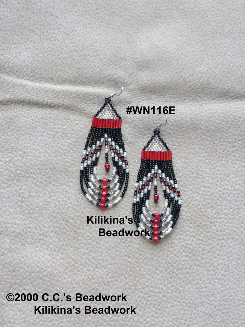 e81e6026018d8 Native American Style Beaded Earrings ~ Seed Bead Earrings ~ Dangle and  Drop Earrings ~ Hand Beaded Earrings by Kilikina
