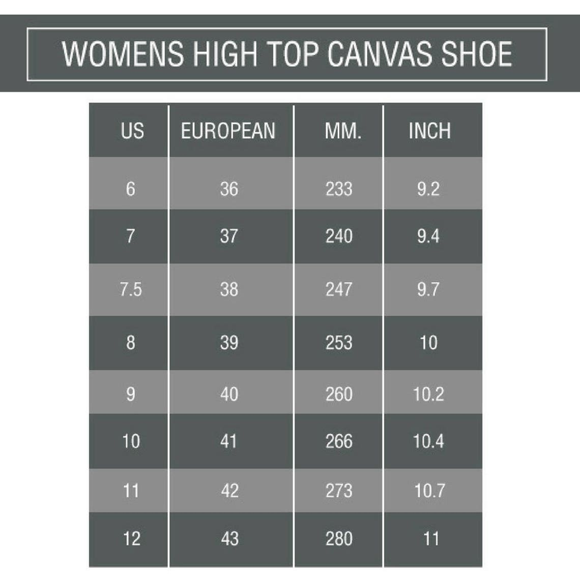 Retro Paisley Women's Black and White High Top Canvas Sneakers