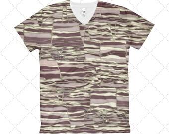 Techno Women's V-Neck T-Shirt: S, M, L, XL, 2XL