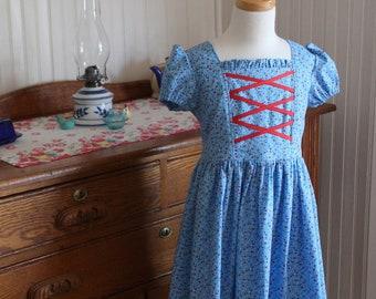 Springtime Calico Peasant Dress Sizes 2-10