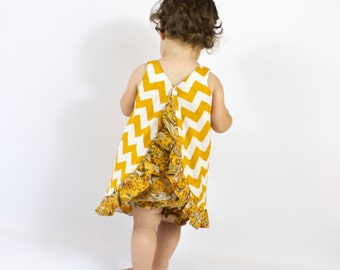 Pinafore Dress Pattern | Reversible and easy to Sew!