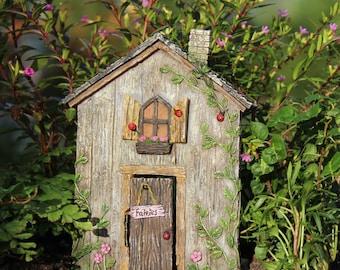 """Ladybug Fairy 5.25"""" Door w/hinged Door for the Fairy Garden"""