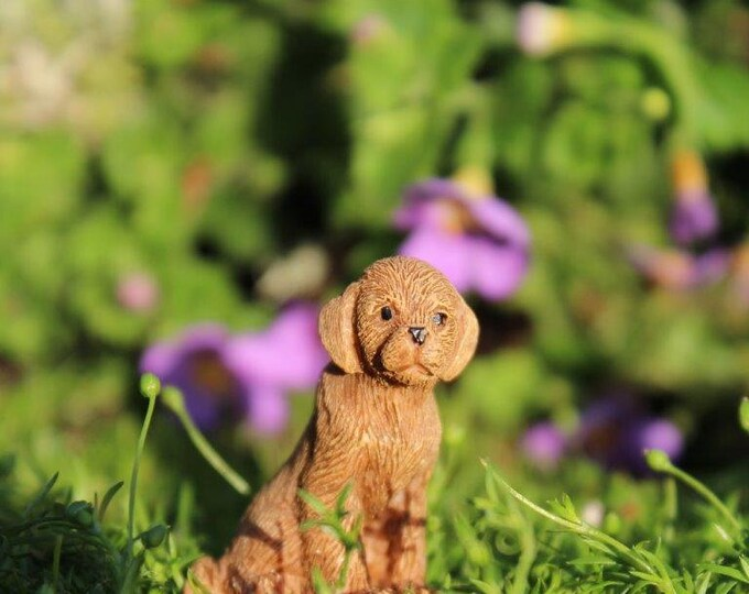 """Ginger the Puppy (1.25"""" Tall) for the Fairy Garden"""