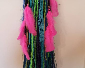 Turbo's Fairy Wigs - Peacock-Blue-Green (TYDF-042) Made to Order