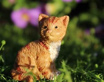 """Buttercup the Kitten (Cat) (1"""" Tall) for the Fairy Garden"""