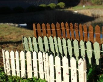 Rustic 12 in. Fairy Fence (Silver, Rust, Cream, and Dark Brown Choose 1 ( Green SOLD OUT)