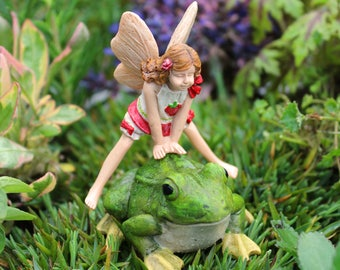 Leap Frog and Fairy Lori 2-Piece Set for the Fairy Garden