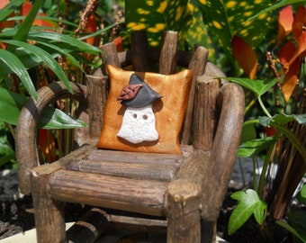 "Gnome Ghost Pillow 1"" Square (Resin) Chair Not Incl."