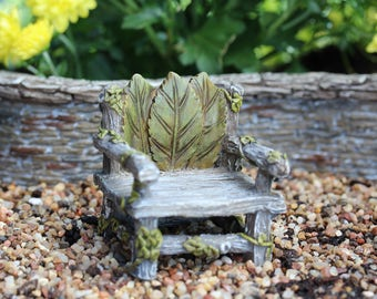 Ivy Chair 2.25″ Tall | 2″ Wide | 2″ Deep for the Fairy Garden